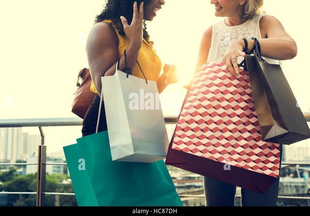 Woman Femininity Shopping Relax Concept - Stock Image