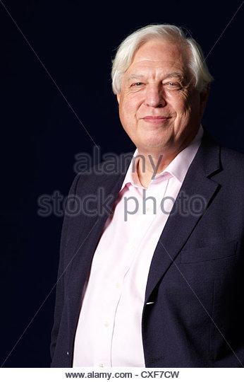 John Simpson,BBC Worlds Affairs Editor and Political Journalist at The Edinburgh International Book Festival 2010 - Stock Image