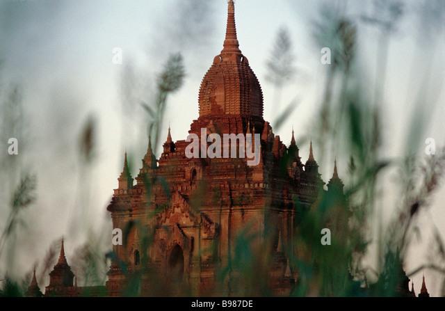 Htilominlo Temple at Bagan, Myanmar - Stock Image