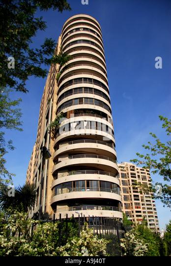 Santiago Chile apartment building city skyline scenic landscape  nobody - Stock Image