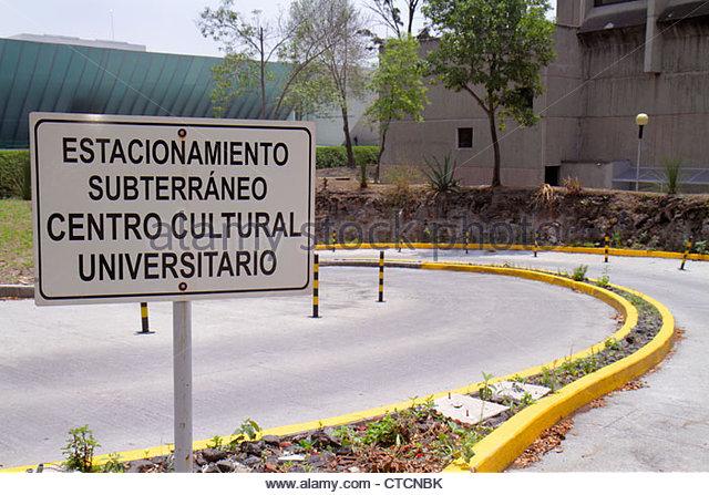 Mexico Mexico City DF D.F. Ciudad de México Federal District Distrito Federal Ciudad Universitaria UNAM - Stock Image