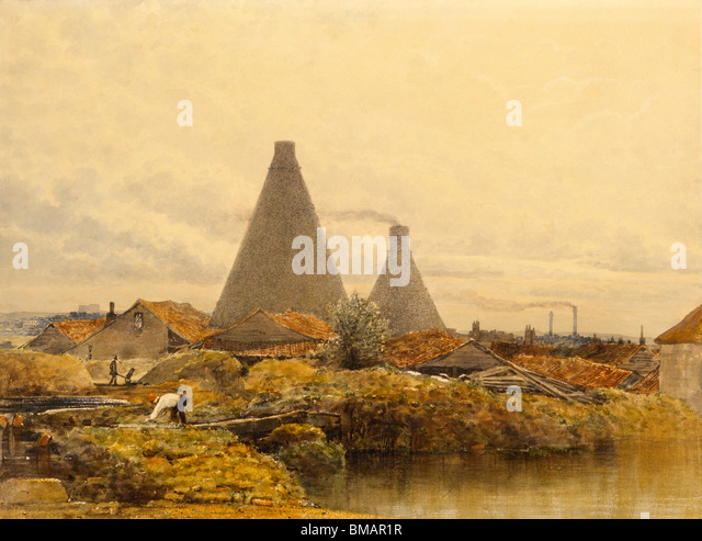 The Kilns, by G.S. Shepherd. England, 19th century - Stock Image