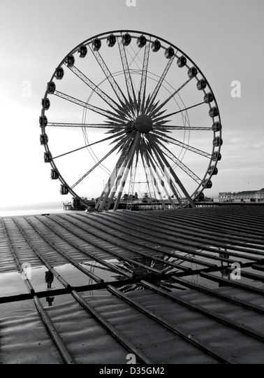 Brighton wheel on the seafront, East Sussex, UK - Stock Image