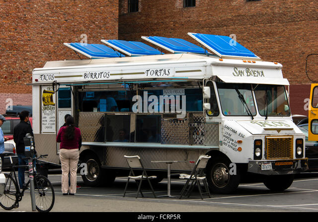 Food truck, San Francisco, California - Stock Image