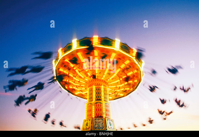 Sweden Stockholm Merry go round Action Activity Amusement Amusement park Amusement parks Carousel Chair Emotion - Stock-Bilder