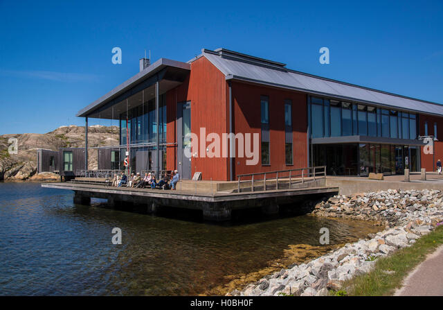 The Nordic Watercolor Museum in Skärhamn on the island of Tjörn in Sweden's West coast archipelago - Stock-Bilder