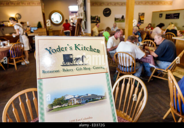Illinois Arthur Yoder's Kitchen Amish restaurant inside menu - Stock Image