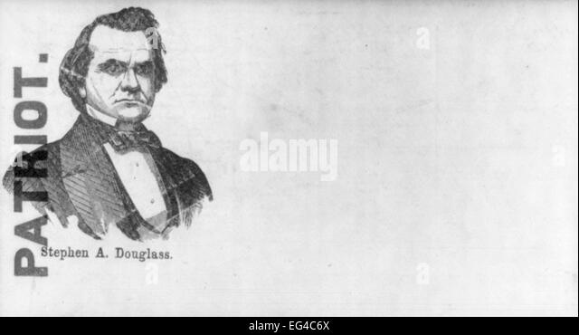 Illustrated Civil War 'Union Envelopes': Portrait of Stephen Douglas labelled 'Patriot', circa 1861 - Stock Image