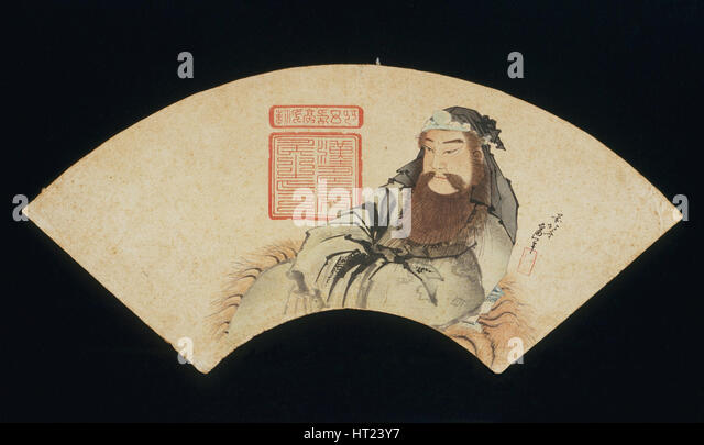 The Chinese God of War. Artist: Hokusai, Katsushika (1760-1849) - Stock Image