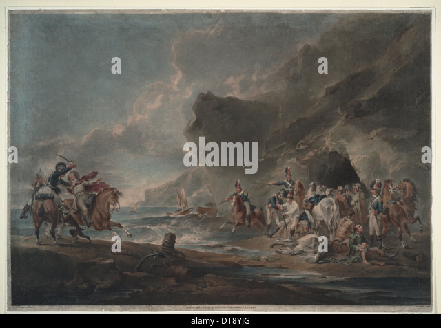 Smugglers defeated, 1795-1798. Artist: Bourgeois, Sir Peter Francis (1756-1811) - Stock Image