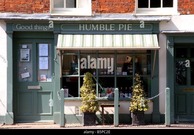 Humble Pie shop in the village of Burnham Market Norfolk England - Stock Image