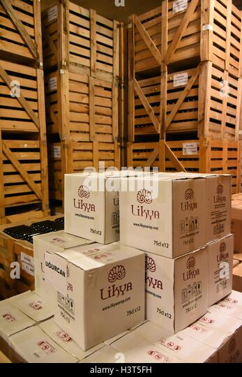 TURKEY Antalya Province. The Likya Winery is an award winning winery and vineyard located just 6 kilometers outside - Stock Image