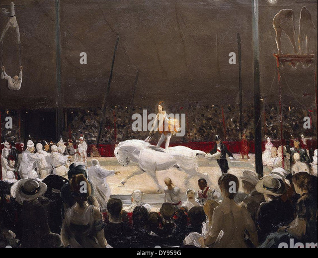 George Wesley Bellows The Circus - Stock Image