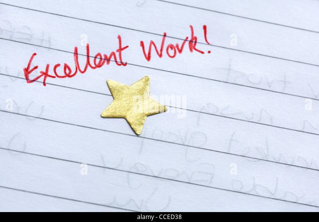 Gold star award - Stock Image