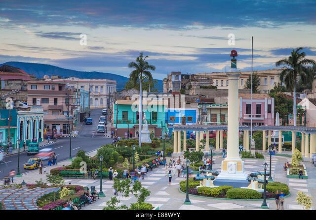 Plaza de Marta, Santiago de Cuba, Santiago de Cuba Province, Cuba, West Indies, Caribbean, Central America - Stock Image