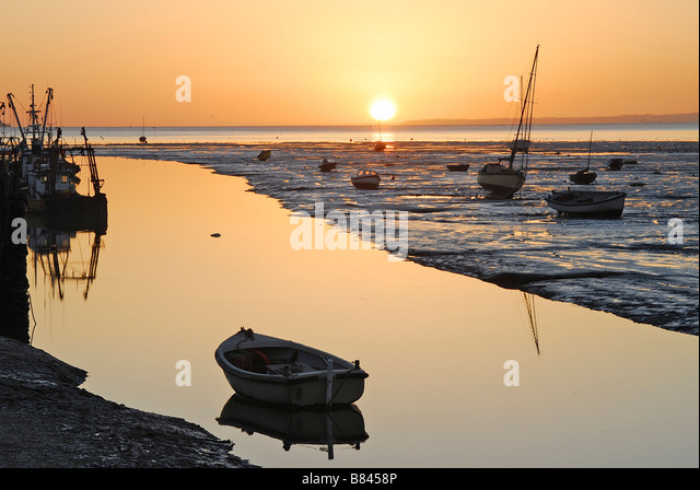 Leigh on Sea at sunrise, UK - Stock Image