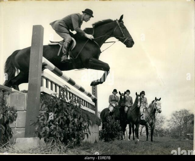 Apr. 04, 1959 - Course for show Jumpers at Arundel Castle: A fortnight's course for our leading Show-Jumping - Stock Image