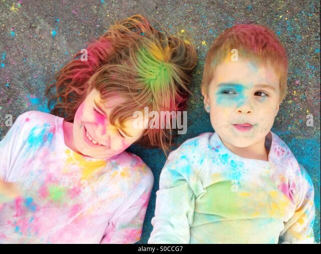 Coloured powder - Stock Image