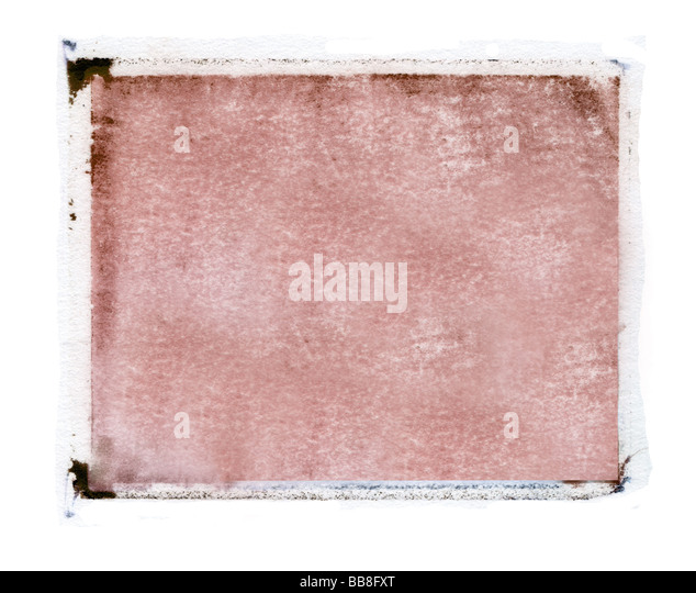 grunge background with a polaroid transfer border around it - Stock Image