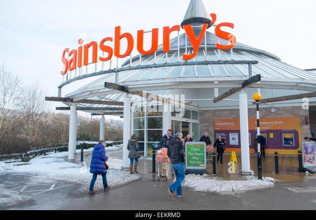 Sainsbury's supermarket in matlock Derbyshire,england - Stock Image