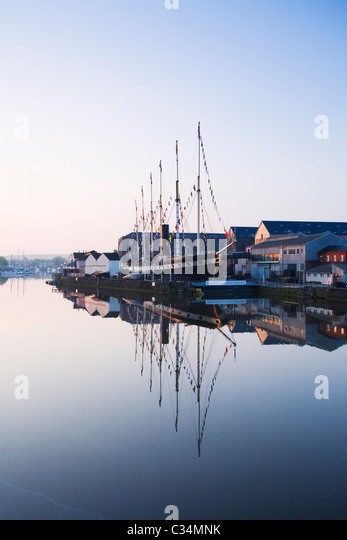 Bristol Floating Harbour and the SS Great Britain. Bristol. England. UK. - Stock-Bilder