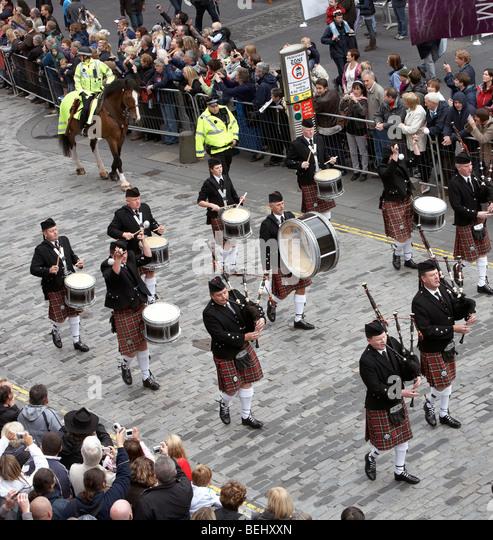 Scottish Bands: Scottish Pipe Band Stock Photos & Scottish Pipe Band Stock