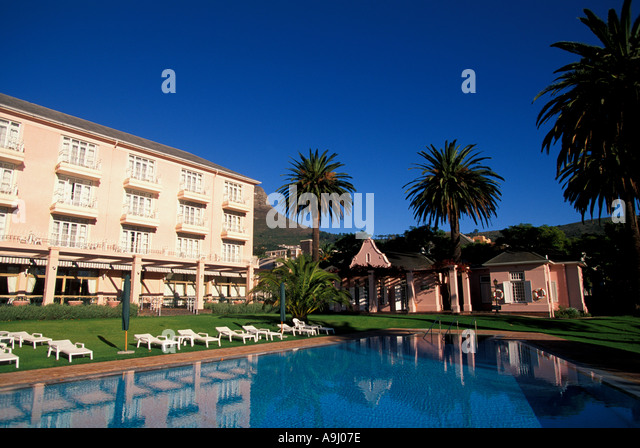 South Africa Cape Town Mount Nelson Hotel swimming pool - Stock Image