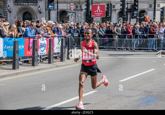 Moogas at the London Marathon 2017 - Stock Image