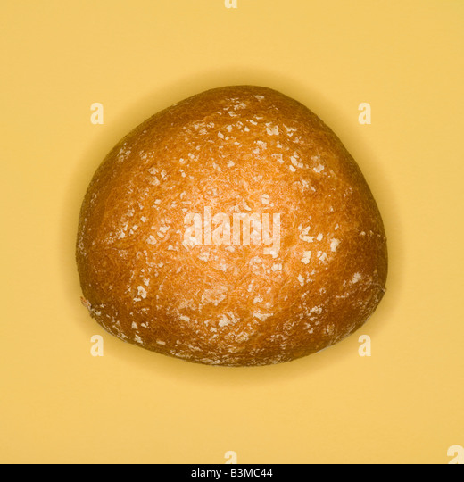 Bread roll, elevated view - Stock Image
