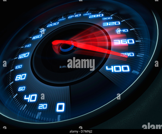 Speedometer, artwork - Stock Image