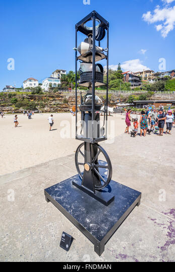 Sculpture by the Sea 2015, annual open air art exhibition, Tamarama Beach, Sydney, New South Wales, Australia. - Stock Image