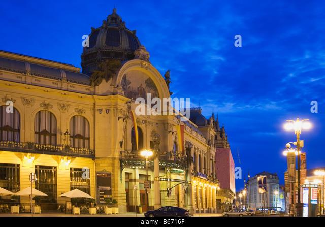 Prague municipal house - Stock-Bilder