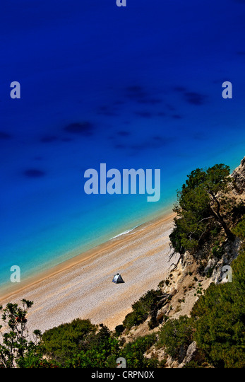 World famous Egremni beach, Lefkada (or 'Lefkas') island, Ionian Sea, Eptanisa ('Seven Islands'), - Stock-Bilder
