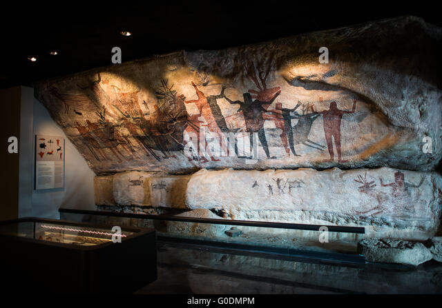 MEXICO CITY, MEXICO--A reproduction of the Painted Cave of San Francisco Sierra, one of the most important ceremonial - Stock Image