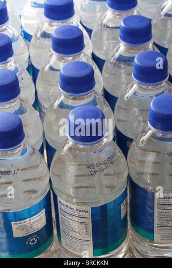 Bottled Drinking Water - Stock Image