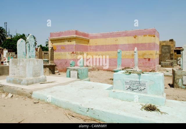 muslim cemetery in cairo egypt - Stock Image