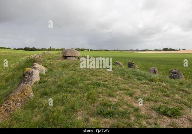 Long grave at Humble - Stock Image