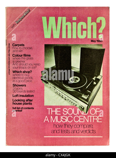 May 1980 issue of Which? consumer magazine - Stock Image