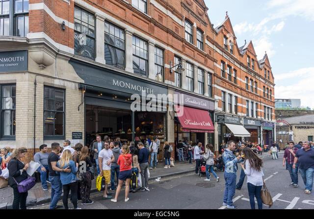 Restaurants and Shops  near Boroughs Market, Southwark, London - Stock Image