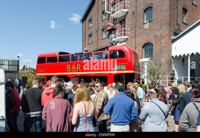 Visitors enjoying the Digbeth Food Festival in Birmingham - Stock Image