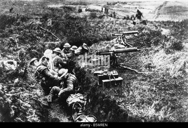 9 1917 11 20 A2 24 E Battle of Cambrai 1917 Eng Machineguns WWI 1914 18 France Battle of Cambrai 20 29 11 1917 British - Stock-Bilder
