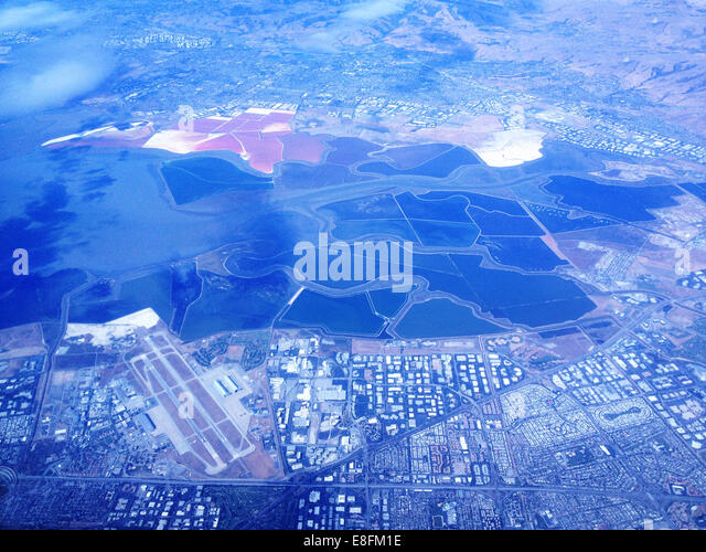 USA, Nevada, Agriculture and urban environment from above - Stock-Bilder