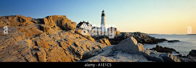 Portland Head, Cape Elizabeth, Maine, USA - Stock-Bilder