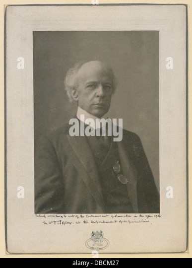 The Honourable Sir Wilfrid Laurier Photo F (HS85-10-16876) - Stock Image