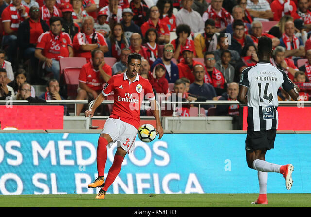 Benfica«s defender Andre Almeida from Portugal during the Premier League 2017/18 match between SL Benfica v - Stock Image