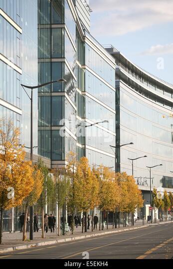 France, paris 13e, avenue Mendes France, quartier neuf derriere Austerlitz, immeubles, - Stock Image