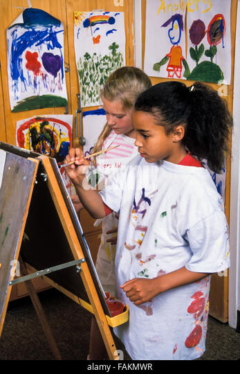 multi ethnic racial diversity racially diverse multicultural multi cultural interracial inter Child's drawing - Stock-Bilder