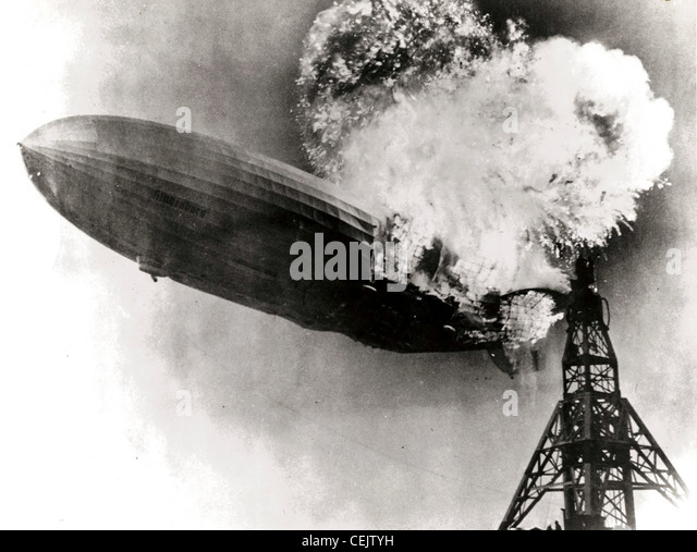 Hindenburg disaster - Stock-Bilder