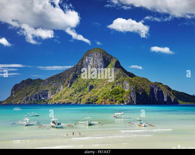 El Nido bay and Cadlao island, Palawan, Philippines - Stock Image