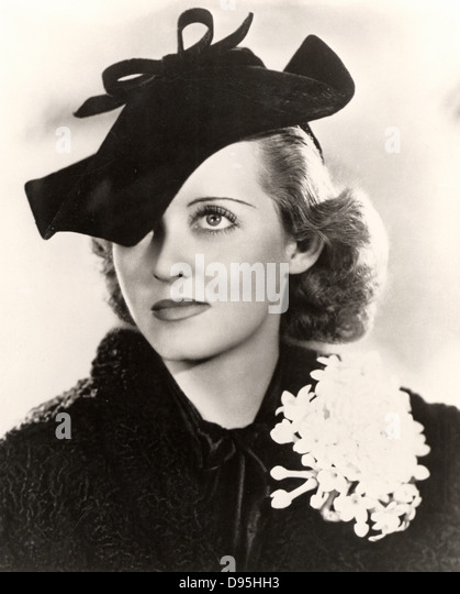 Bette Davis (1908-1989)  American Hollywood actress and film star. Photograph. - Stock Image